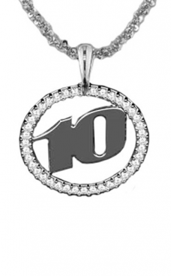Racer Series Ladies Racing Number Pendant With Diamond Frame product image
