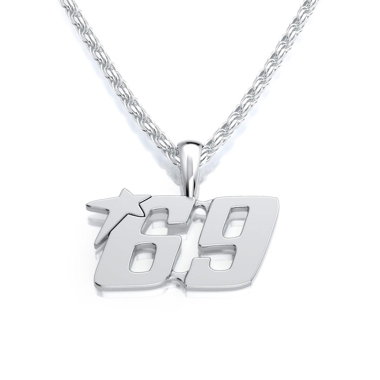 Racer Series Ladies Racing Number Pendant product image