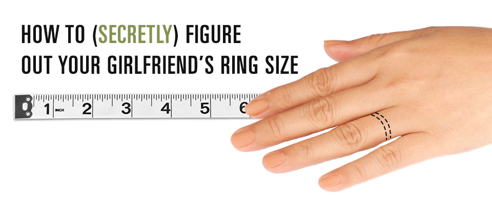 how to secretly determine ring size